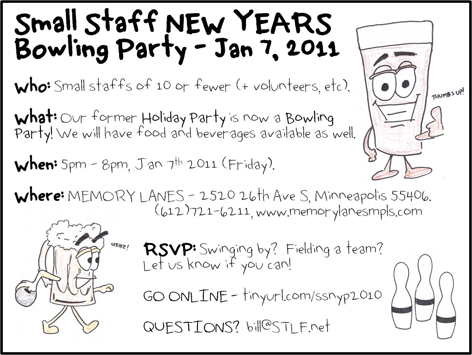 Small Staff NEW YEARS Bowling Party! | Minnesota Rising